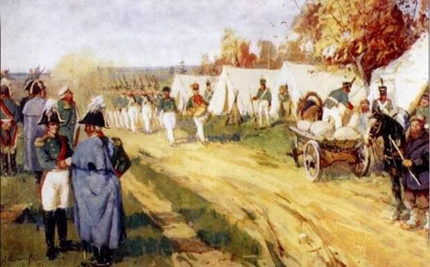 Хроники 1812: Авангард русской армии достиг неприятеля фланговым маршем