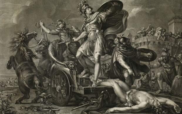 победа Ахиллеса над Гектором, Илиада