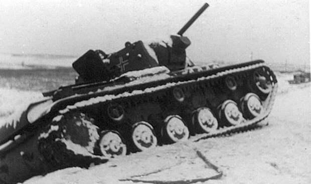 трофейный танк КВ-1