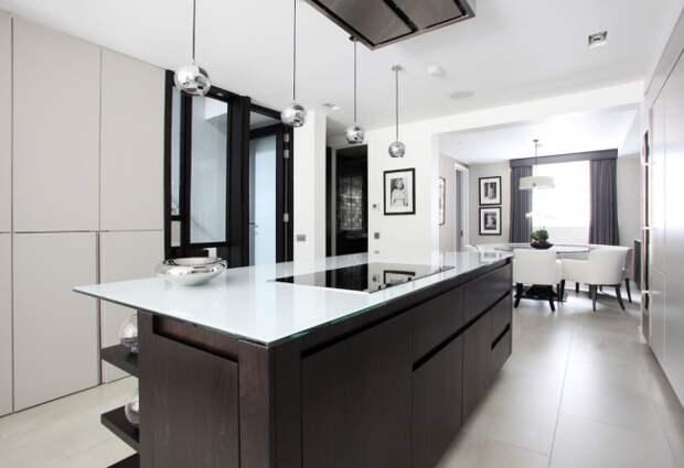 Интерьер кухни-столовой в стиле современная классика