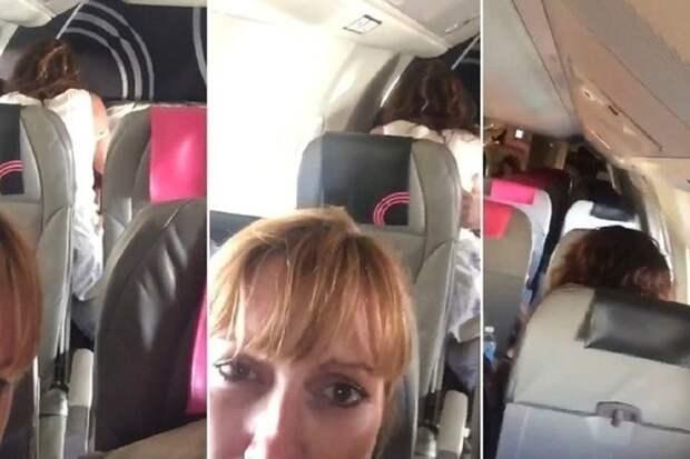 Шокированные муж и жена сняли на видео, как пара занимается сексом прямо в самолете