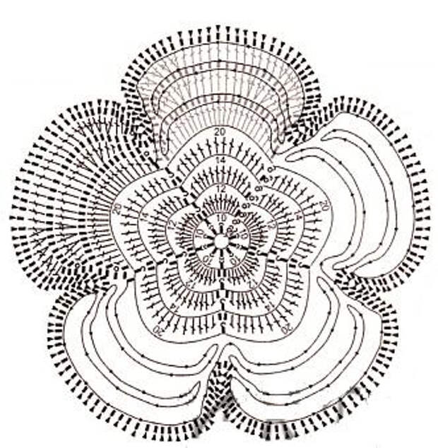 цветок-крючком-схема (332x340, 135Kb)