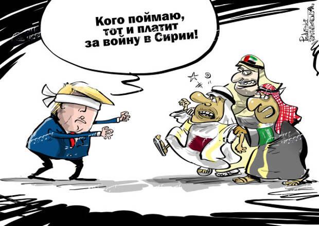 Турецкий мат американским военным на сирийской шахматной доске