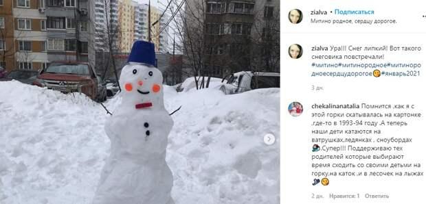 Фото дня: веселый снеговик