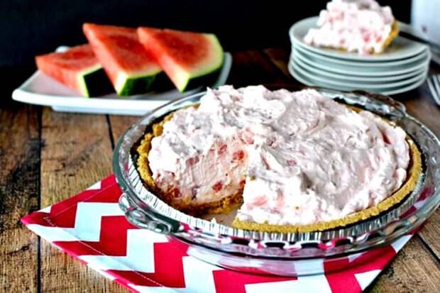 Пирог с арбузной начинкой без выпекания