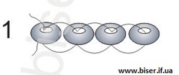 серьги из бисера схемы