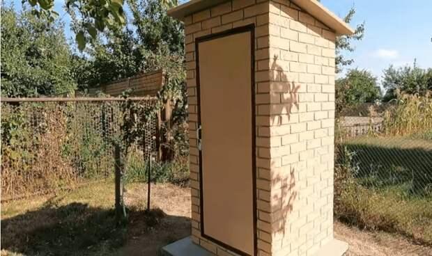 Уличный, недорогой и очень красивый туалет на даче. Справится любой дачник