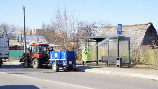 97 остановок в Подольске ежедневно обрабатывают хлорным раствором