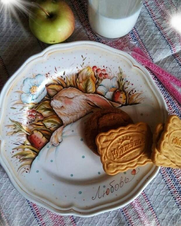 Тарелки с одеялками (подборка)