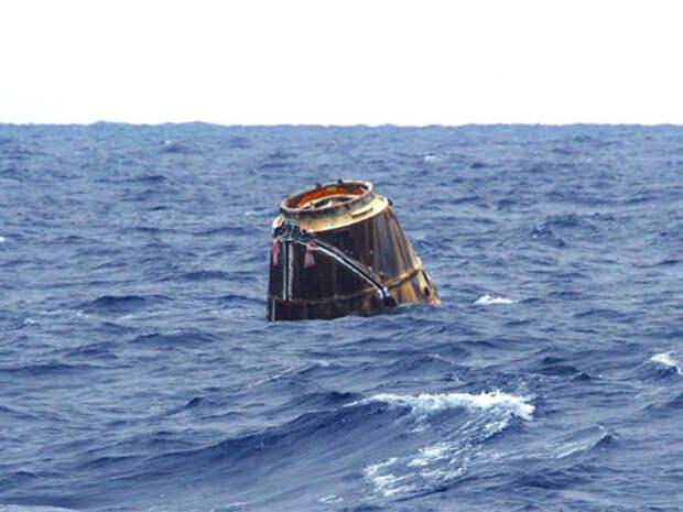 Космический корабль «Дракон» успешно приводнился