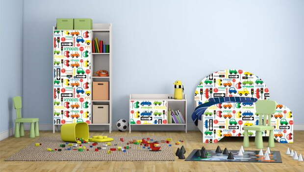 Пленка позволит легко менять дизайн детской. /Фото: yellowhome.ru