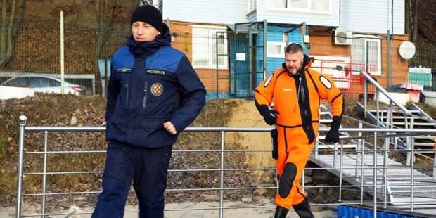 На Борисовских прудах спасли тонущего мужчину