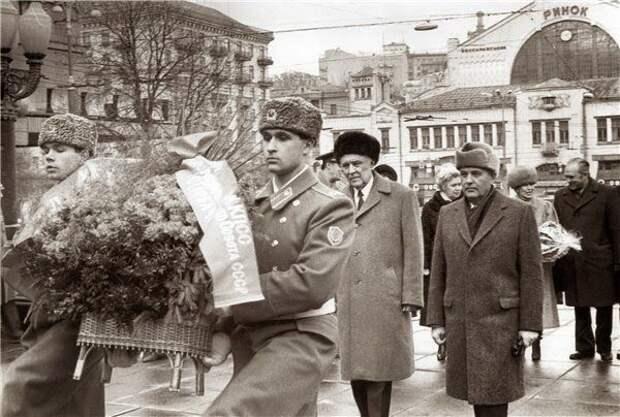 Владимир Щербицкий и Михаил Горбачёв