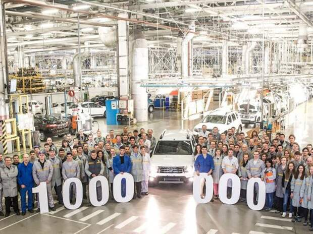 С конвейера завода Renault в Москве сошел миллионный автомобиль