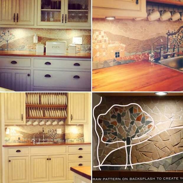 Бюджетные кухонные фартуки, которые можно сделать своими руками