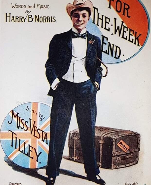 Выступавшая под видом мужчины Веста Тилли была невероятно популярна.