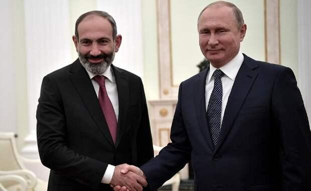 Пашинян: унас сПутиным сложились честные ипрямые отношения