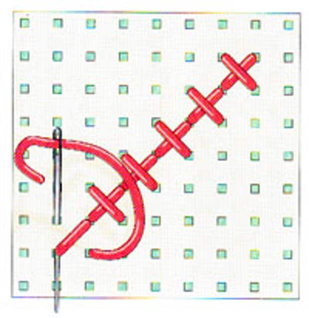 Вышивка крестиком по диагонали. Простая диагональ (фото 10)