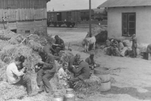 Немецкие солдаты на Восточном фронте.