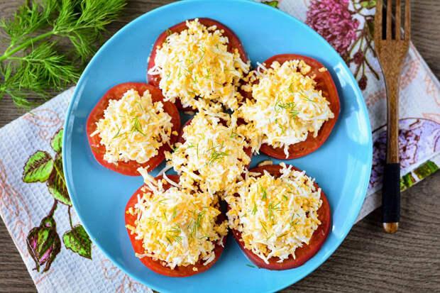 Пошаговый рецепт вкусной закуски «Помидоры под шубой»