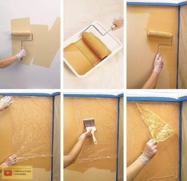 Как красить стены создавая красивые декор своими руками