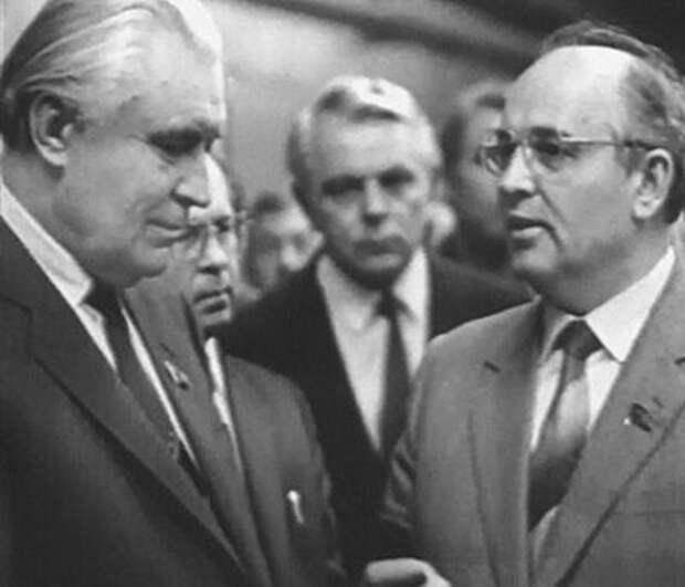Щербицкий и Горбачёв. Киев, 1989 г.