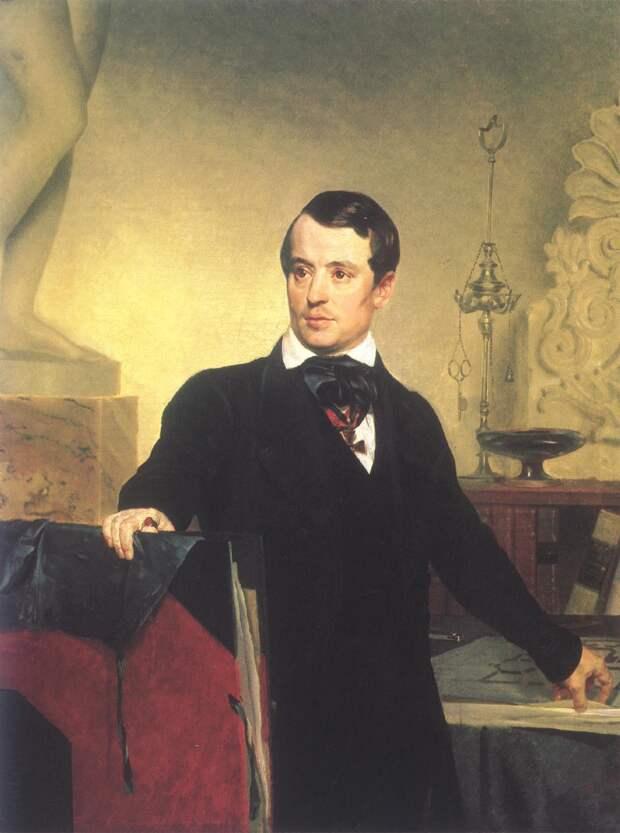 Карл Брюллов на картине Ф. С. Завьялова, 1844 г.