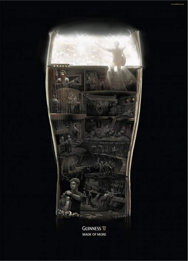 Guinness: Rock to the top, Guinness, BBDO Proximity Singapore, Diageo plc, Печатная реклама