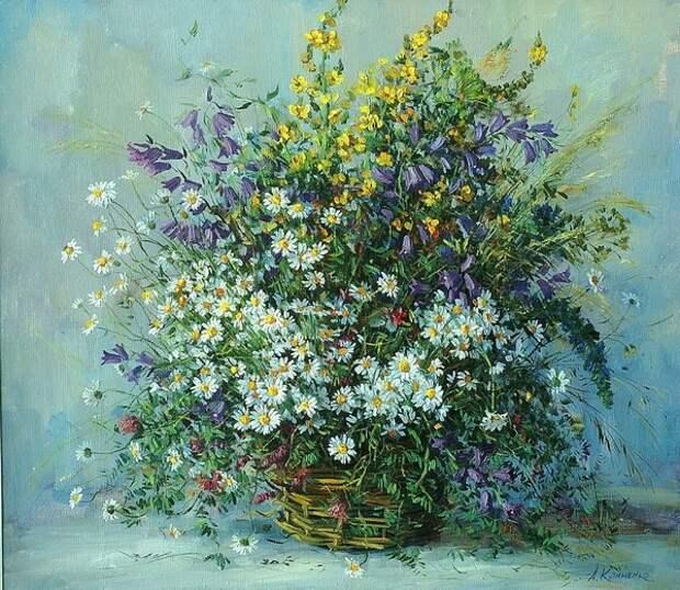 """""""И цветы, и шмели, и трава, и колосья..."""" - очаровательные в своей простоте букеты полевых цветов"""