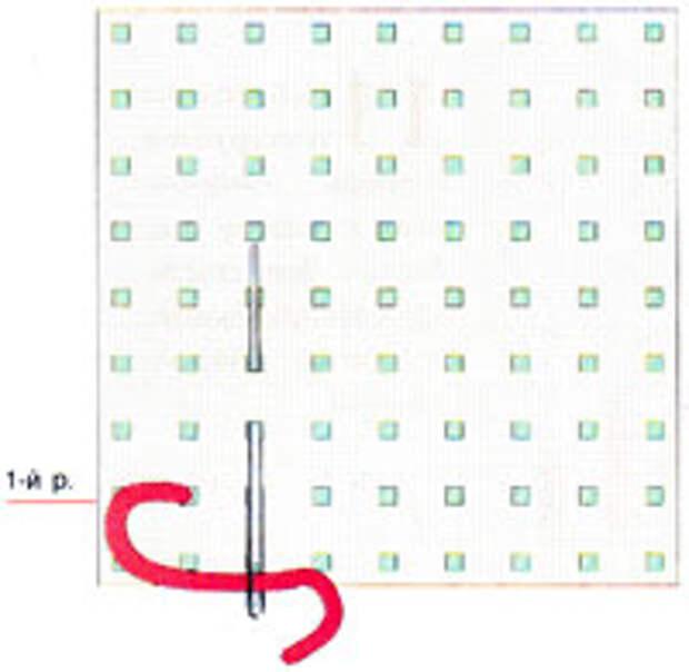 Вышивка крестиком по диагонали. Простая диагональ (фото 1)