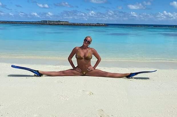Волочкова помечтала о своих фирменных шпагатах на Мальдивах