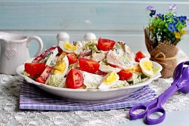 Диетический куриный салатик