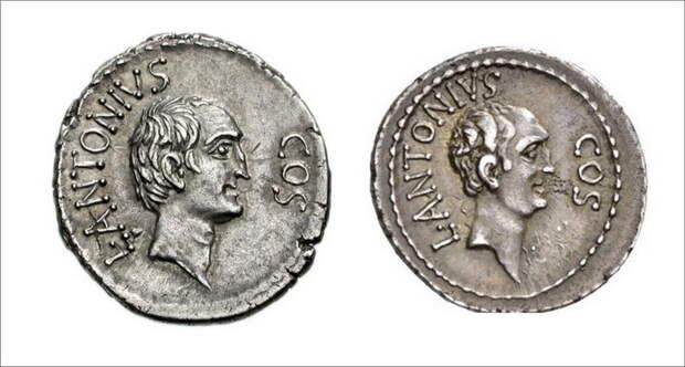 Луций Антоний на серебряном денарии 41 года до н.э - Гражданские войны: Октавиан против Секста Помпея | Warspot.ru