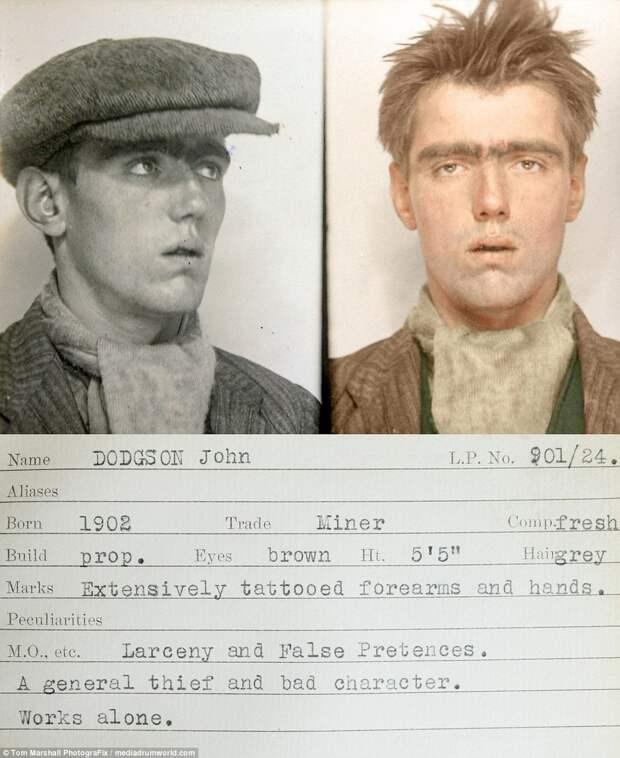 Гоп-стоп, мынебоимся Скотленд-Ярд: цветные снимки преступников 1930-х