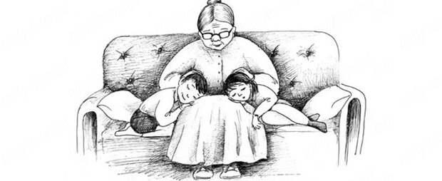 Бабушка обязана смотреть внуков бесплатно!