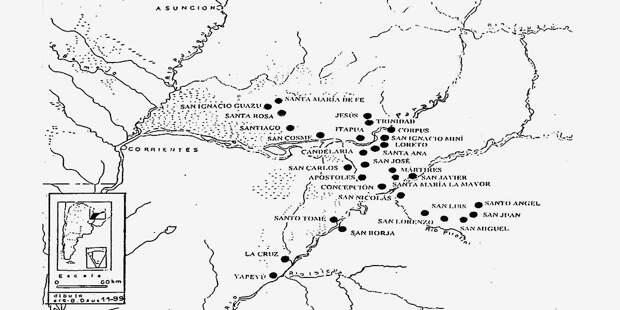 30 иезуитских миссий на карте (источник фото)