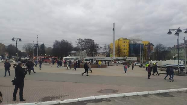 В Рязани задержали шестерых участников несанкционированной акции