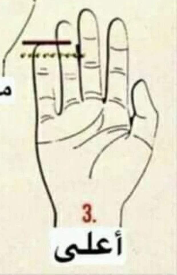 Арабский тест успеха по руке