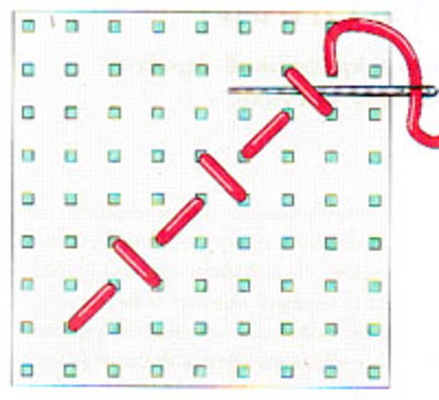 Вышивка крестиком по диагонали. Простая диагональ (фото 7)