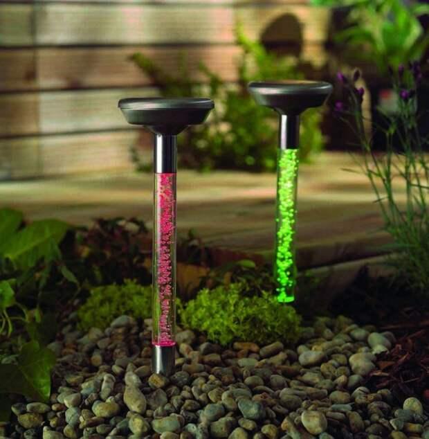 Оригинальные садовые светильники фото