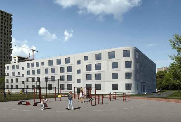 В Рязанском районе построят новую школу с фактурными фасадами