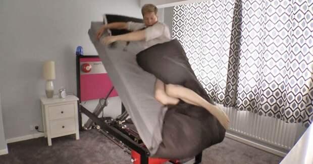 Безумное и гениальное изобретение — кровать, которая точно разбудит вас