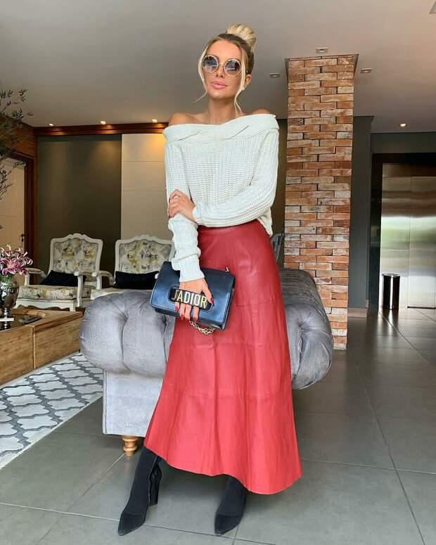 Кожаная юбка 2021: соблазнительные модели для создания стильного образа
