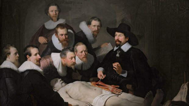 Рембрандт, «Урок анатомии доктора Тульпа», 1632г.