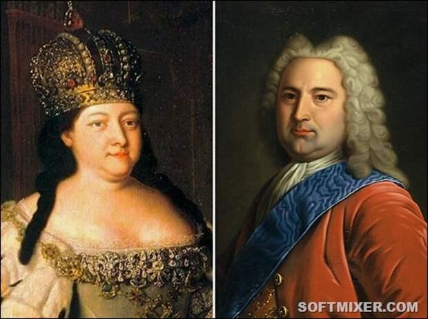 Анна Иоанновна и Эрнст Бирон