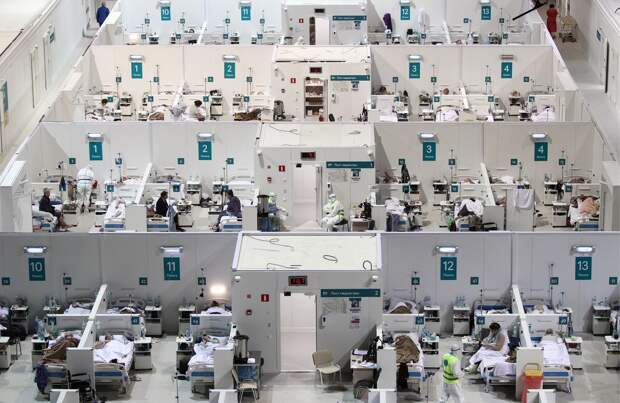 Госпиталь для пациентов с коронавирусом COVID-19 в ледовом комплексе