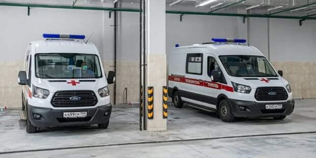 Собянин осмотрел строящийся корпус скорой помощи в ГКБ им. Вересаева. Фото: М. Мишин mos.ru