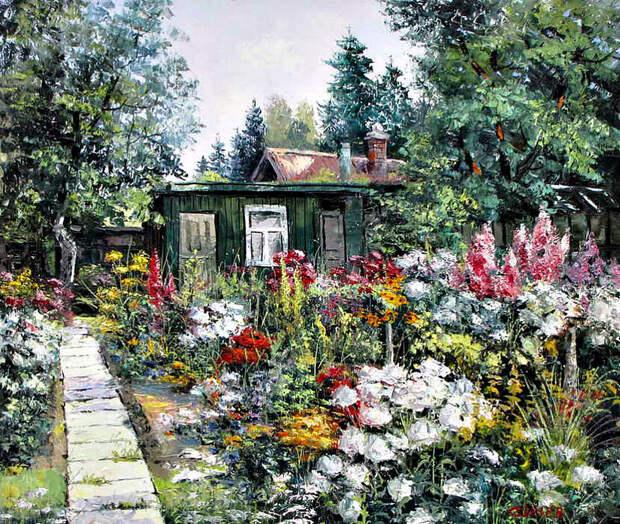 Евгений Синев.На даче