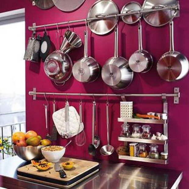 Рейлинги для посуды на кухне