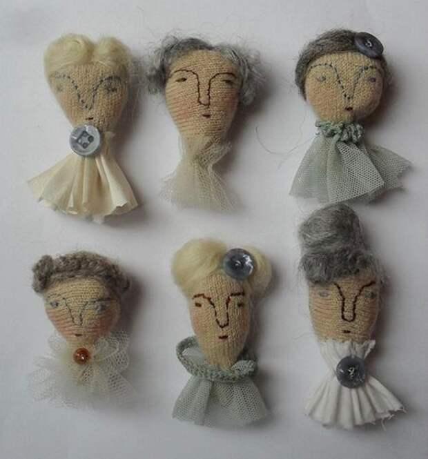 Вязаные куклы-броши от Melodiestacey
